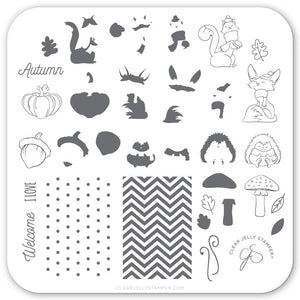 Clear Jelly Stamper- CjS-136- Foxy Fall