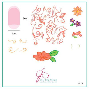 Clear Jelly Stamper- CjS-014- Floral Swirl #2