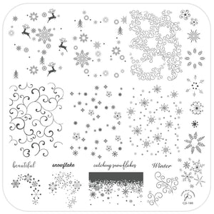 Clear Jelly Stamper- CjS-180- Catching Snowflakes