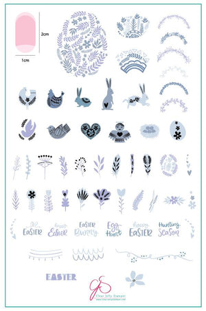 Clear Jelly Stamper- H-30- Easter to be named
