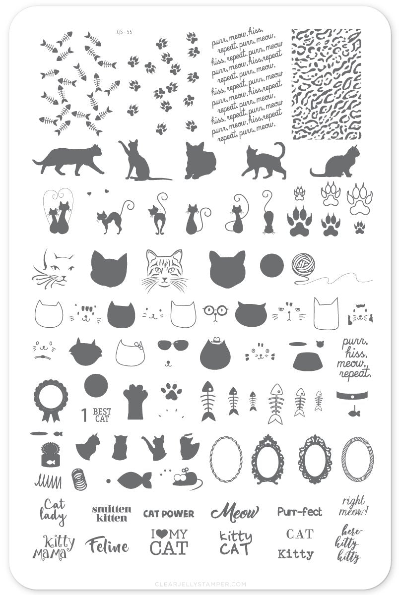 Clear Jelly Stamper- CjS-055- Here Kitty Kitty!