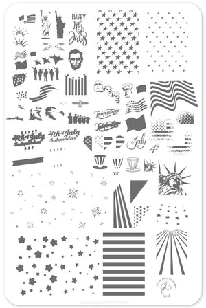 Clear Jelly Stamper- CjS-062- Independence Day