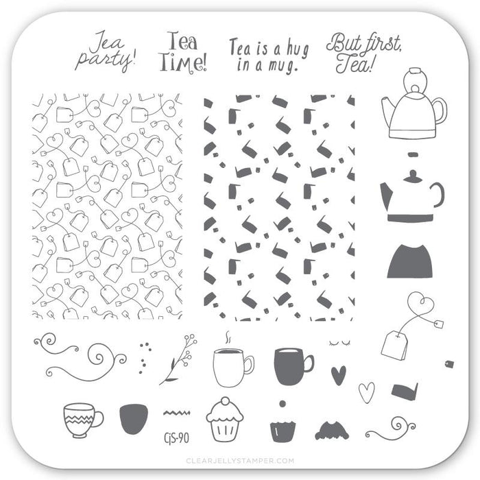 Clear Jelly Stamper- CjS-090- Steeped