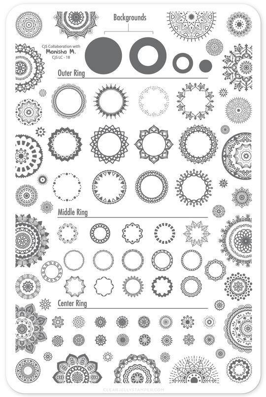 Clear Jelly Stamper- LC-18- Myriad of Mandalas