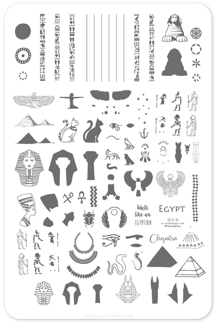 Clear Jelly Stamper- LC-33- Jewels of Egypt