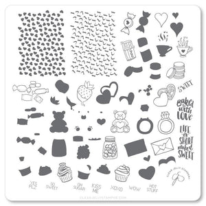 Clear Jelly Stamper- V-23- Sweets & Treats