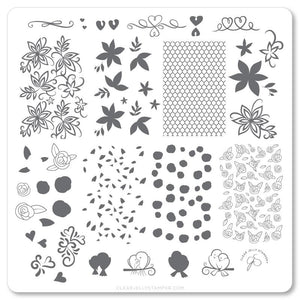 Clear Jelly Stamper- V-25- Lace & Floral