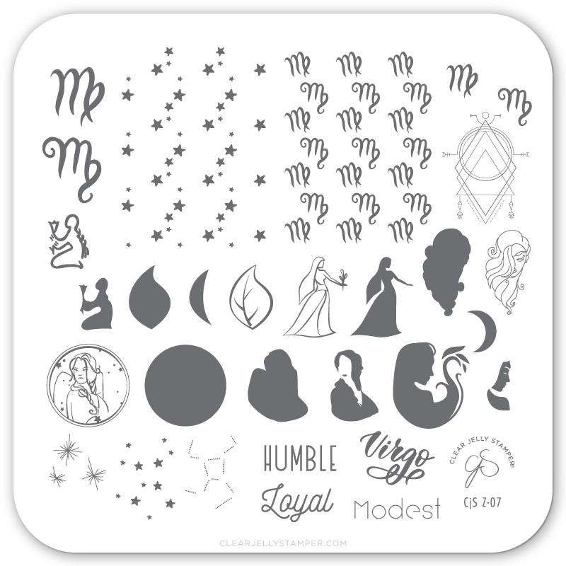 Clear Jelly Stamper- Z-07- Virgo