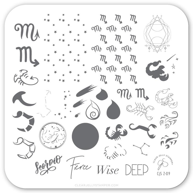 Clear Jelly Stamper- Z-09- Scorpio