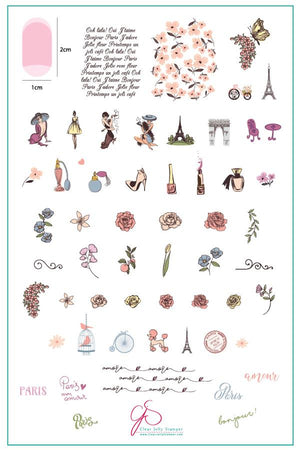 Clear Jelly Stamper- CjS-151- Springtime in Paris