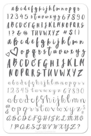 Clear Jelly Stamper- CjS-040- Alphabet Brush