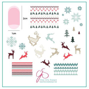 Clear Jelly Stamper- C-02- Christmas Sweater