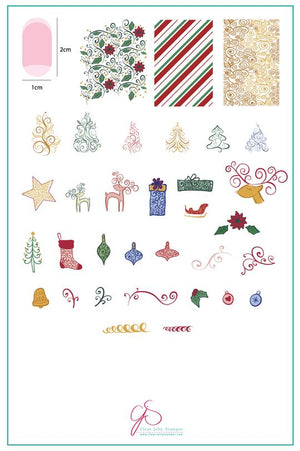 Clear Jelly Stamper- C-21- Baubles & Bells