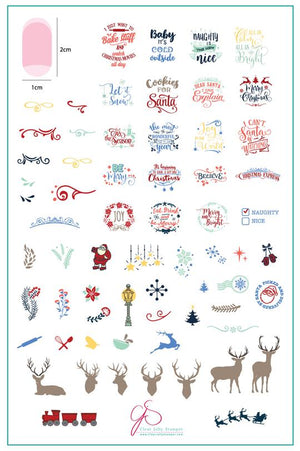 Clear Jelly Stamper- C-29- Christmas Express