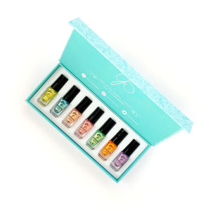 Clear Jelly Stamper- Stamping Polish- The Candy Shop Kit (7 colors)