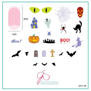 Clear Jelly Stamper- H-06- Halloween Boo!