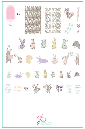 Clear Jelly Stamper- H-33- Honey Bunny