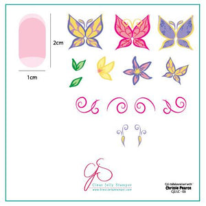 Clear Jelly Stamper- LC-03- Chrissie Pearce's Butterfly