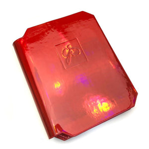 Clear Jelly Stamper- Accessories - Large Holo Plate Holder (Crimson)