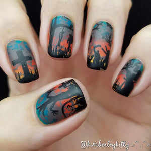 Halloween zombie cemetary manicure