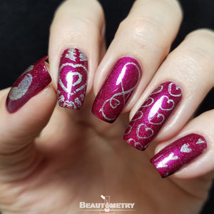 valentine nail art Dixie Love 2019
