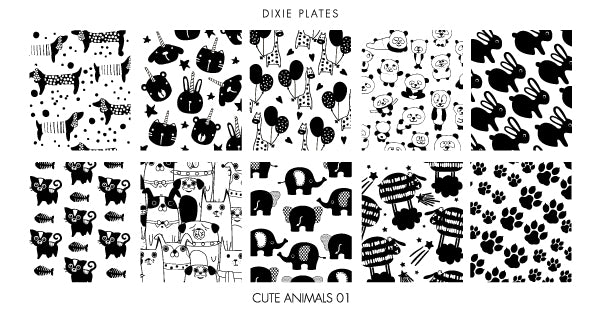 Dixie Plate Cute Animals 01 Mini Plate