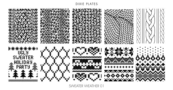 Dixie Plate Sweater Weather Mini Plate