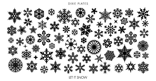 Dixie Plate Let It Snow Mini Plate