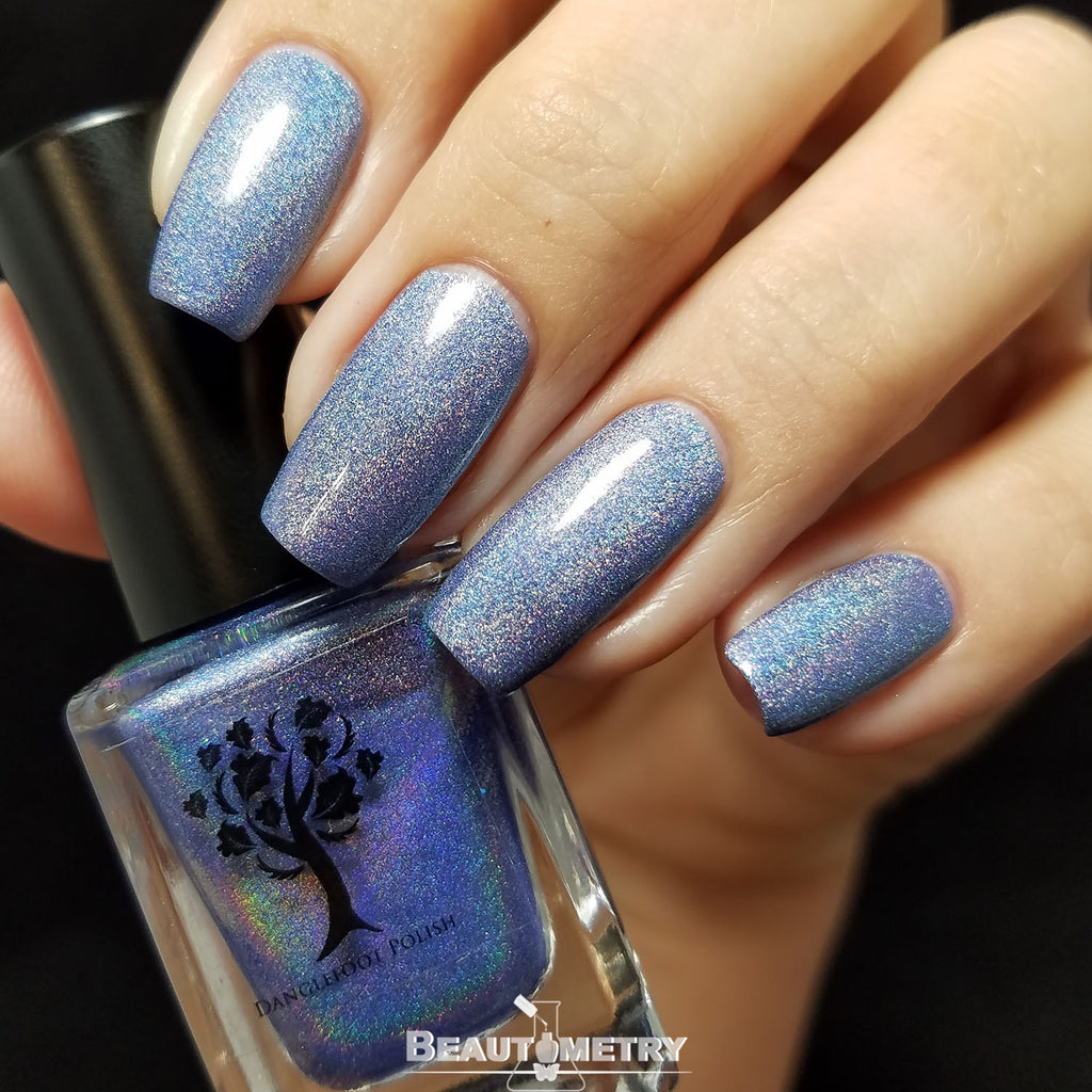 blue holographic nail polish God of Thunder