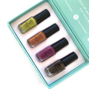 Clear Jelly Stamper- Stamping Polish- Harvest Kit (4 colors)