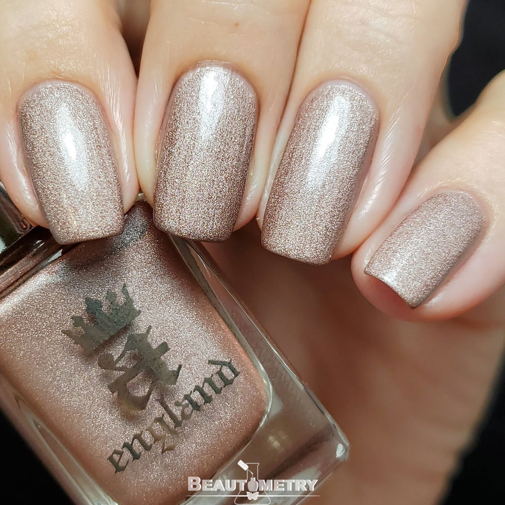 her rose adagio silver holographic nail polish