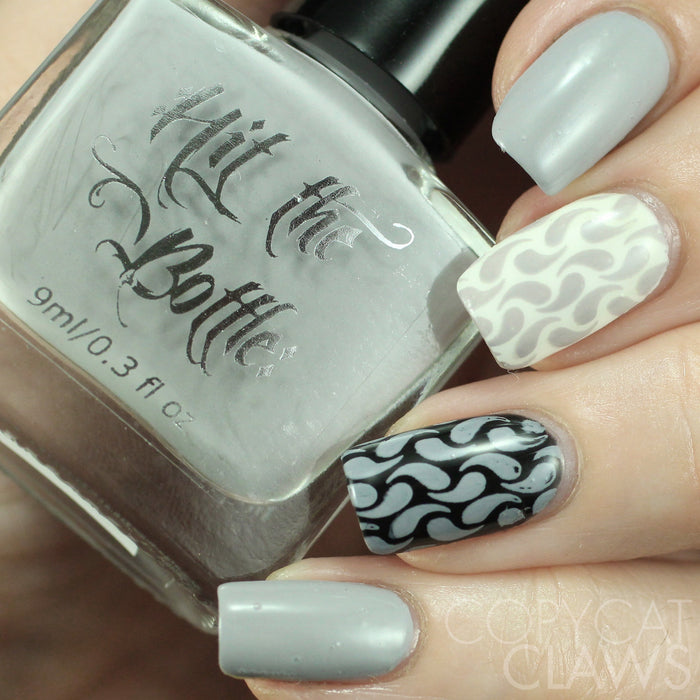 "Hit the Bottle ""A flock of Seagulls"" Stamping Polish"