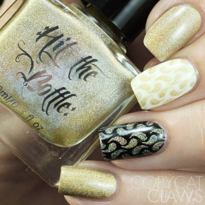 "Hit the Bottle ""A Glint of Gold"" Stamping Polish"