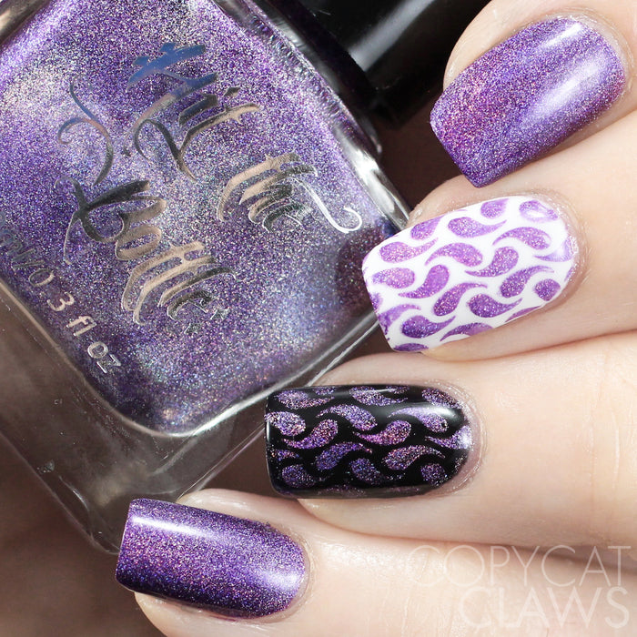 "Hit the Bottle ""Amethyst Sizzle"" Stamping Polish"