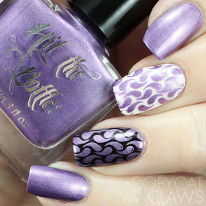 anything popsicle purple chrome stamping polish