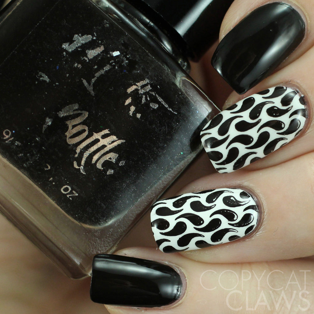 "Hit the Bottle ""As Black as Night"" Stamping Polish"