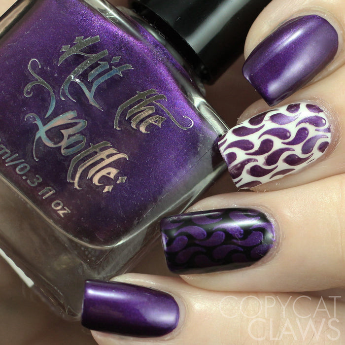 "Hit the Bottle ""Aubergenie"" Stamping Polish"
