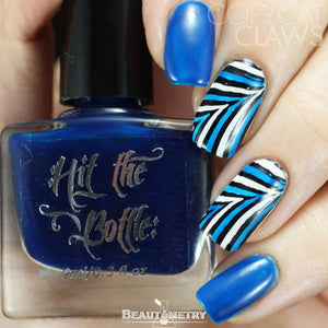 hit the bottle blue jelly nail polish