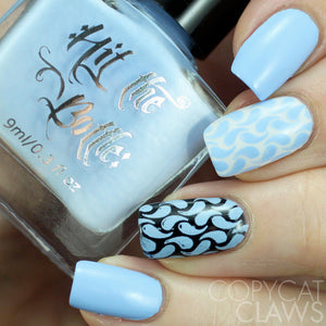 "Hit the Bottle ""Blueberry Dewdrops"" Stamping Polish"