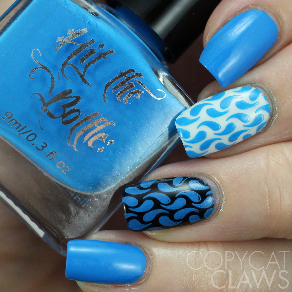 "Hit the Bottle ""Blutonium"" Neon Stamping Polish"