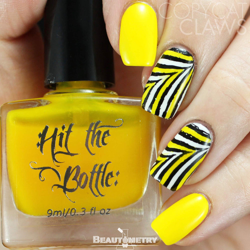 hit the bottle yellow jelly nail polish