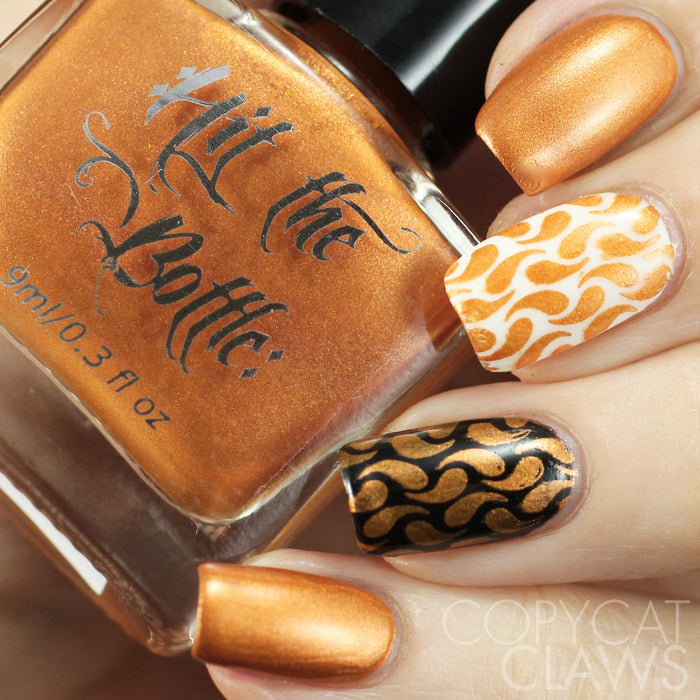 "Hit the Bottle ""Burnt Orange"" Stamping Polish"