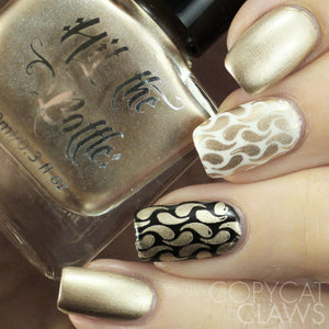 "Hit the Bottle ""Calypso Gold"" Stamping Polish"