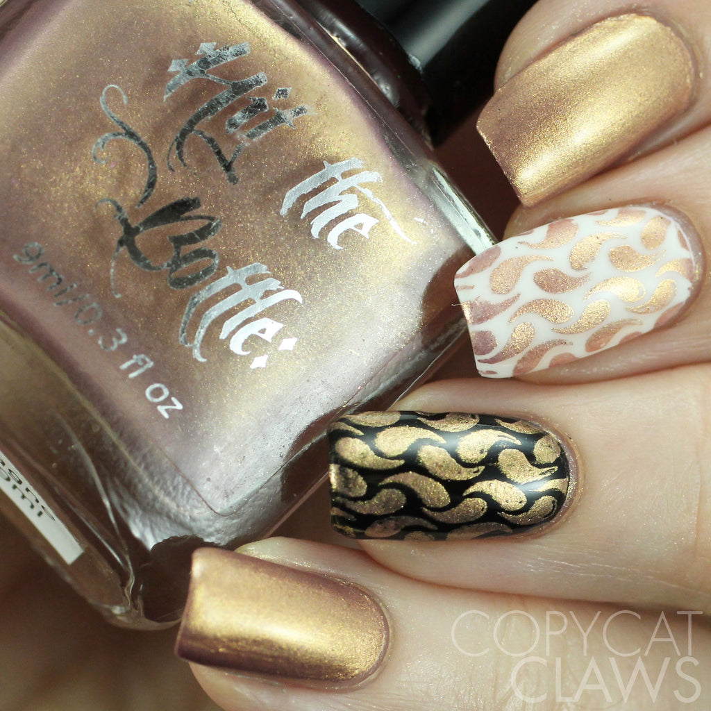 "Hit the Bottle ""Champagne Shifter"" Stamping Polish"