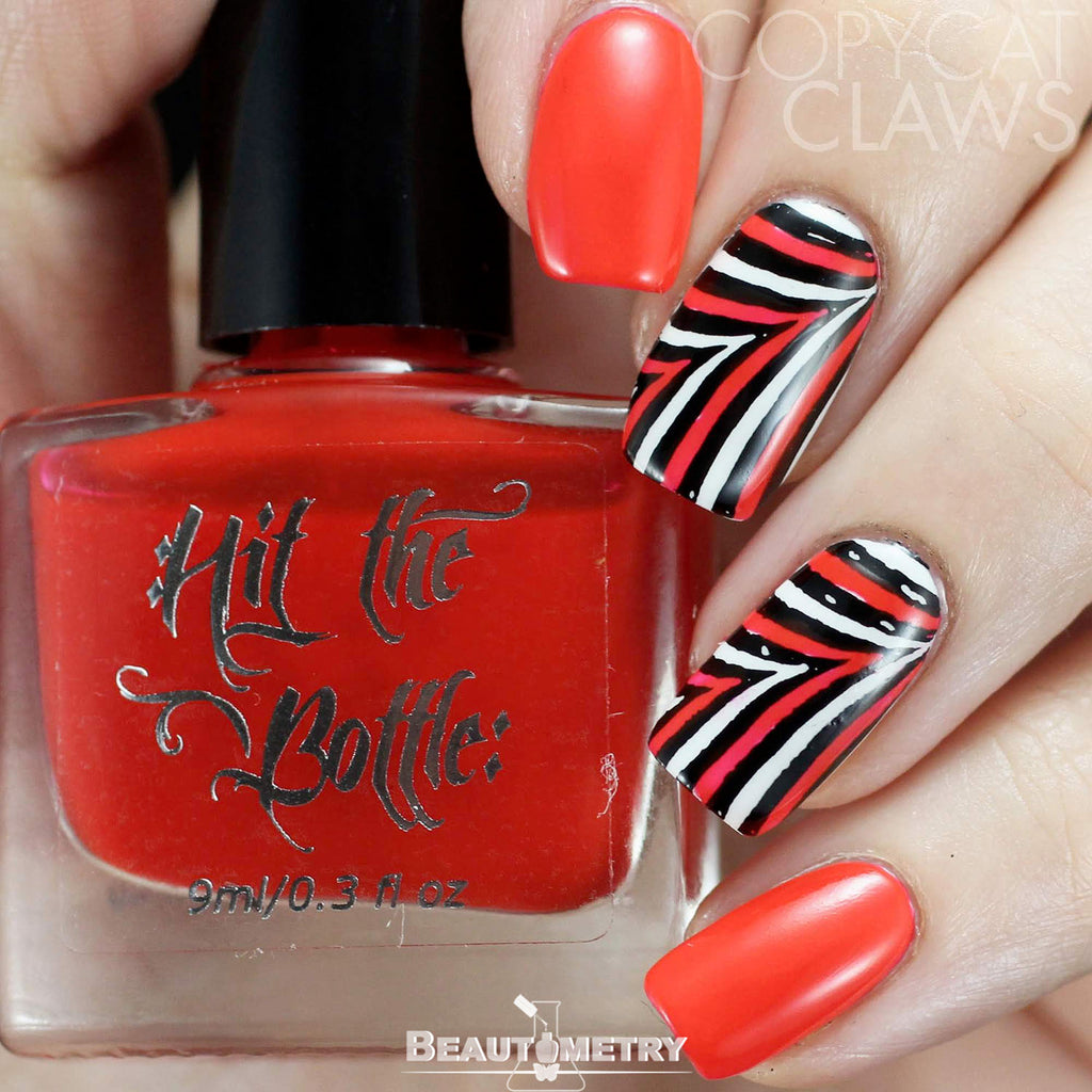 hit the bottle red jelly nail polish