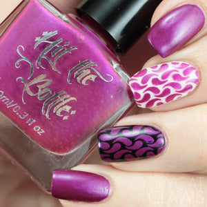 "Hit the Bottle ""Fuchsia Predictions"" Stamping Polish"