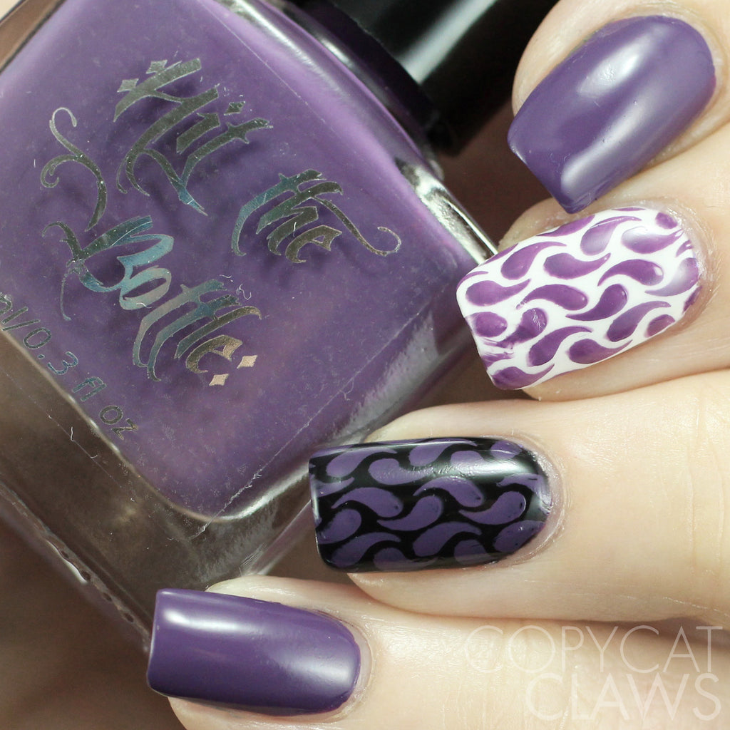 "Hit the Bottle ""Grape Minds Drink Alike"" Stamping Polish"