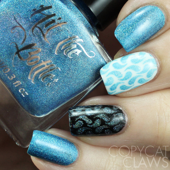 "Hit the Bottle ""Hololulu Blue"" Stamping Polish"