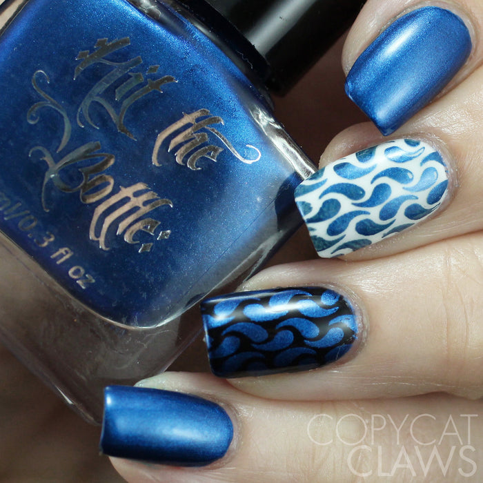 "Hit the Bottle ""I Blue it All on Polish"" Stamping Polish"