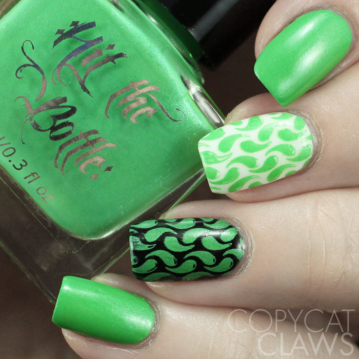"Hit the Bottle ""I Dream of Greenie"" Stamping Polish"